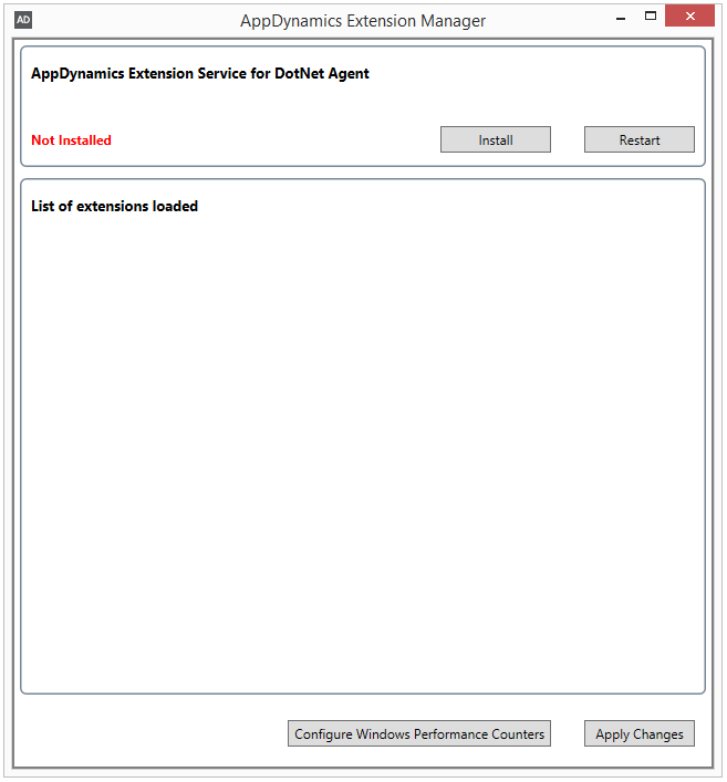 AppDynamics Dotnet Agent ExtensionManager